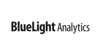 The black BlueLight Analytics logo.